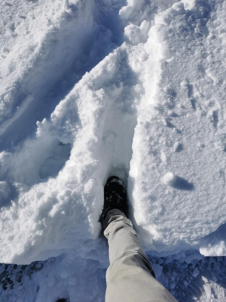 Schnee in Mayrhofen