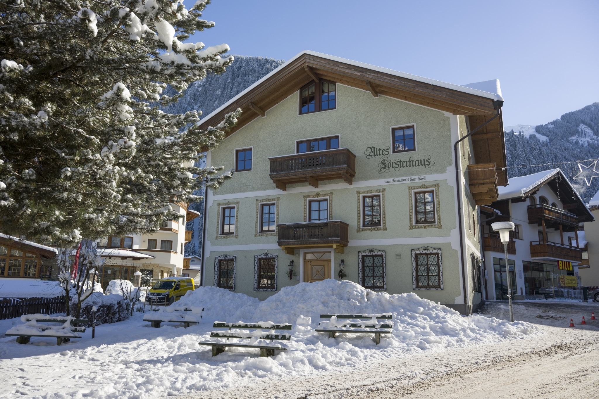 Försterhaus in Mayrhofen im Winter