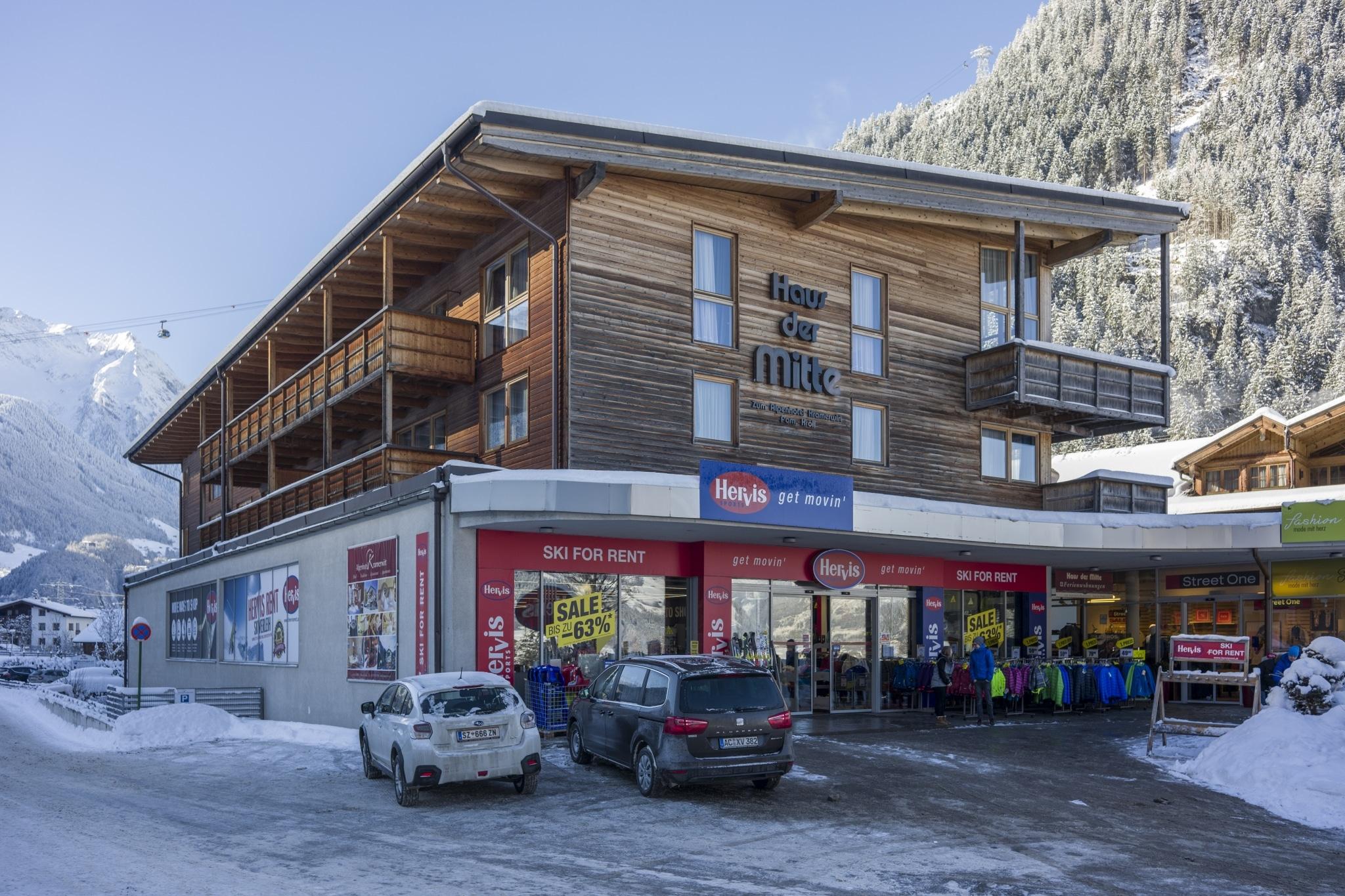 Haus der Mitte in Mayrhofen im Winter
